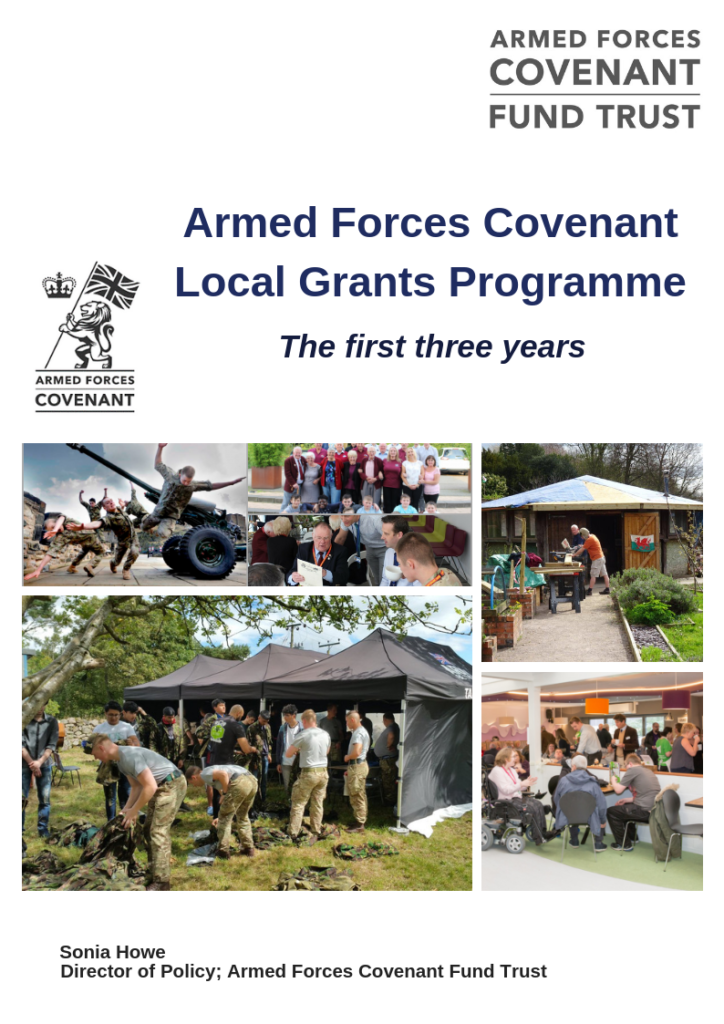 Front cover of Armed Forces Covenant, the first three years report