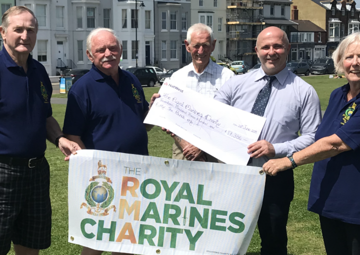 Veterans from Deal RNA Branch celebrating the grant awarded to refurbish their centre