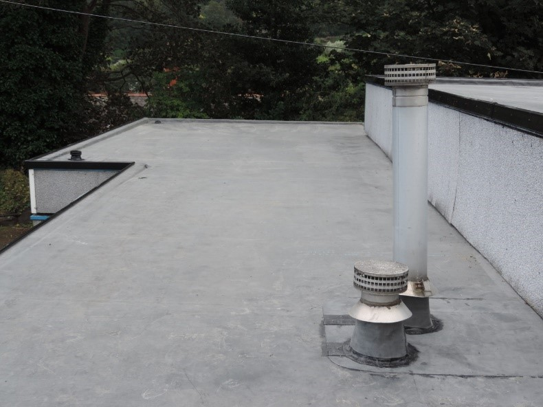 A roof that was repaired with a grant