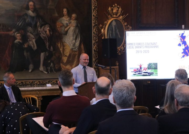 Ian Leckie, Grants Officer speaking at an event