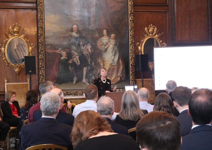 Melloney Poole, CEO, giving a speech at the Breakfast seminar