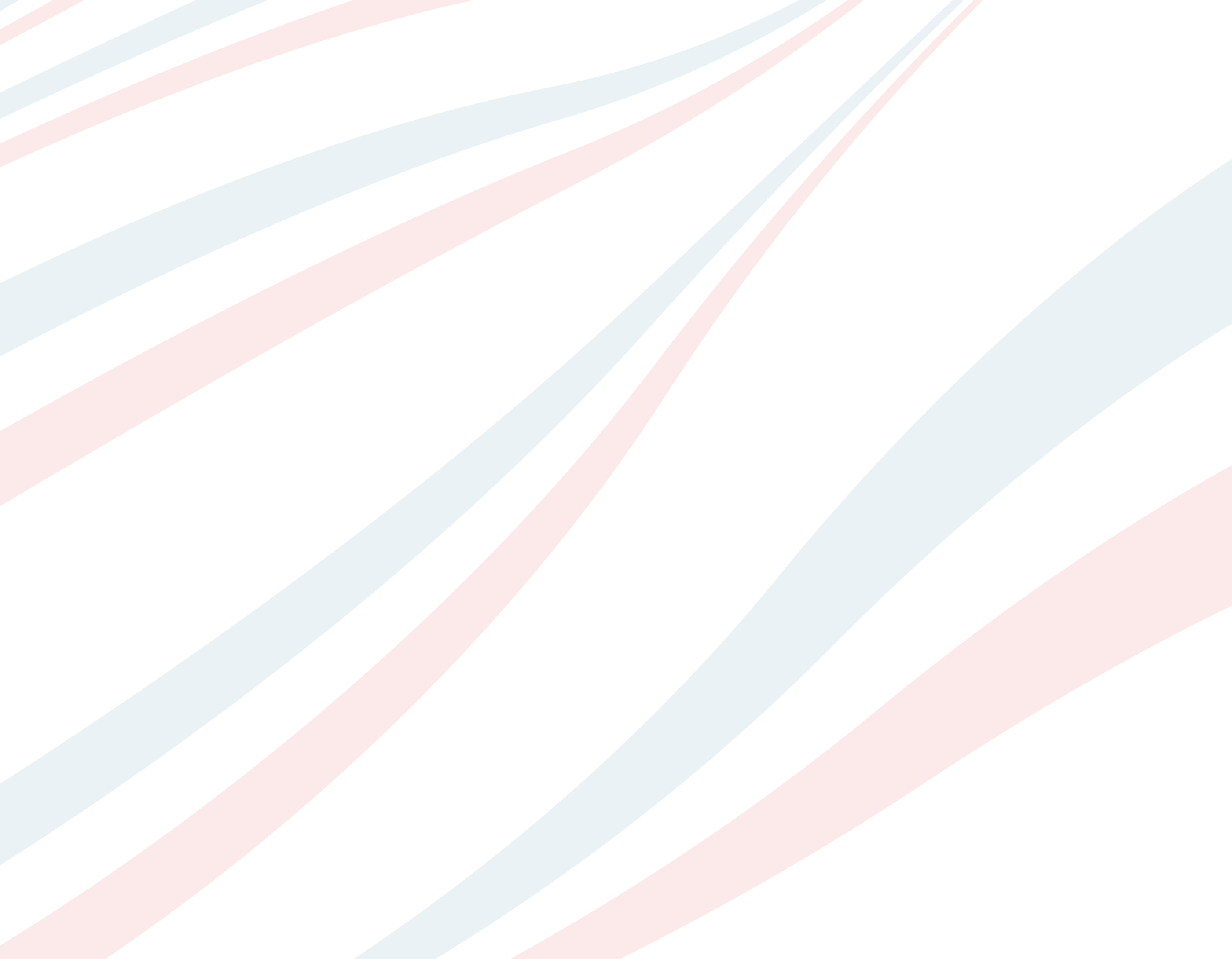 Blue and red ribbons on a white background