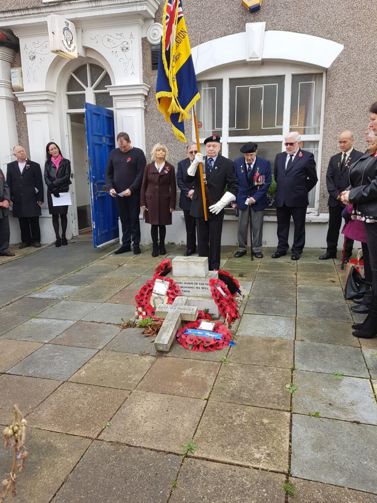 Veterans taking part in commemorations