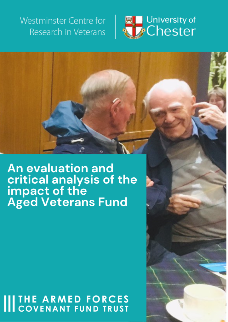 Report cover - an evaluation and critical analysis of the impact of the Aged Veterans Fund