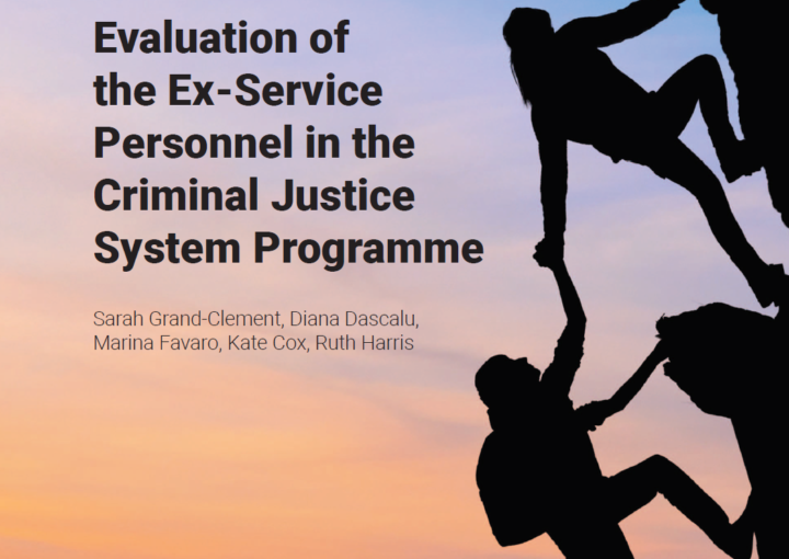 Front cover of the Evaluation of Ex Service personnel in the Criminal Justice System programme front cover