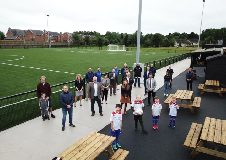 Members of Ballymacash at the new pitch