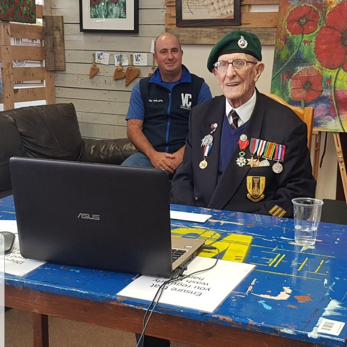 An older veteran at the VC Gallery